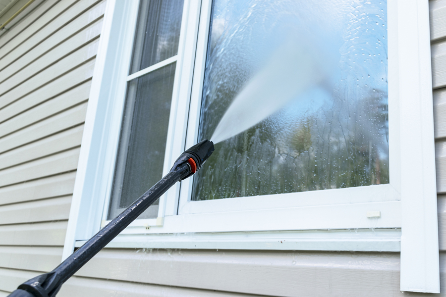 cleaning of the window